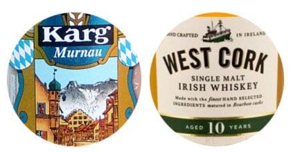 Karg Helles Weißbier and West Cork 10-yo